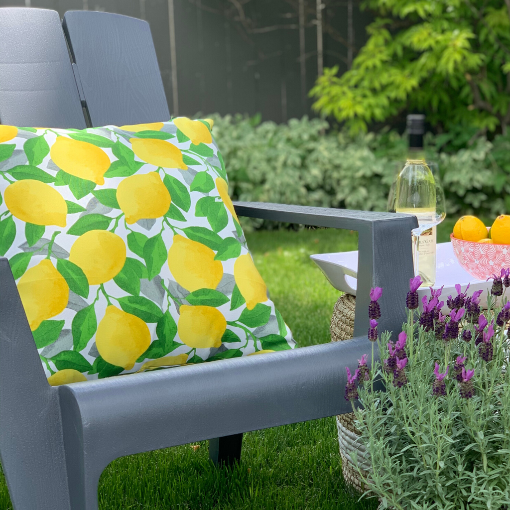 Outdoor Throw Pillow, Limonata