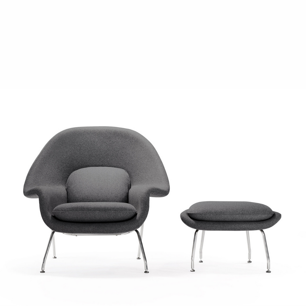 RS Private Collection Armchair Chair + Ottoman, Fossil