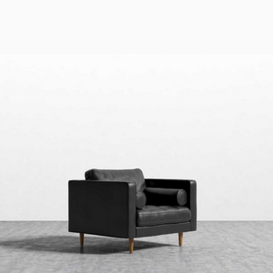 RS Private Collection Armchair, Black Leather