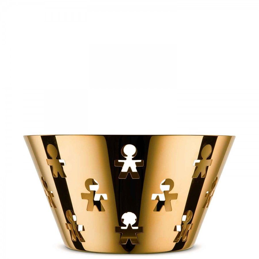 Girotondo Decorative Basket/Bowl, 23cm - Gold - Limited Edition of 999