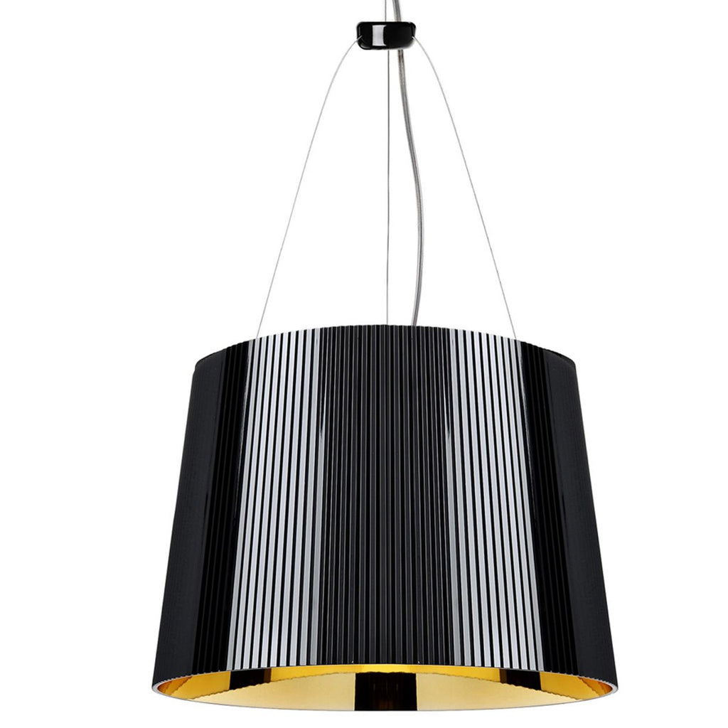 Gè Pendant Light, Black + Gold