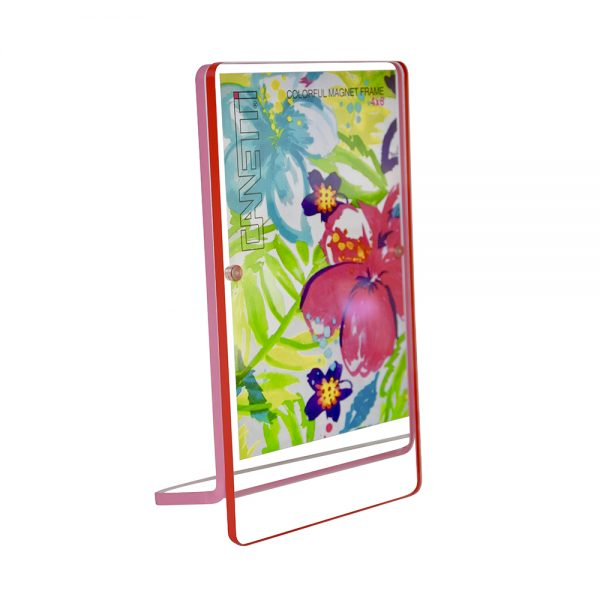 "Colorful Magnet Frame, red + pink (4""x6"")"