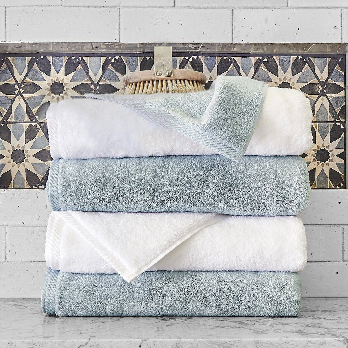Milagro Towel Collection, White