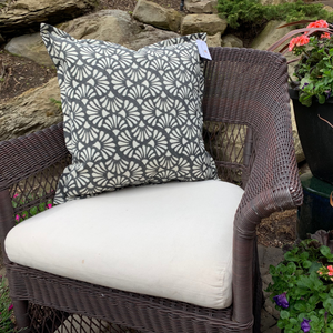 Outdoor Throw Pillow, Zen Shells