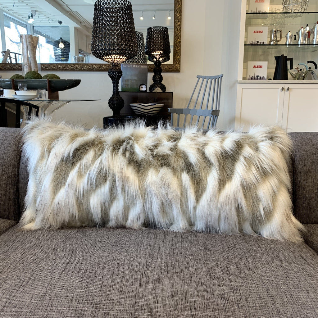Lumbar Cushion, Faux Fox Fur