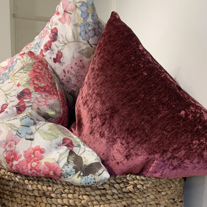 Throw Pillow, Raspberry Glam
