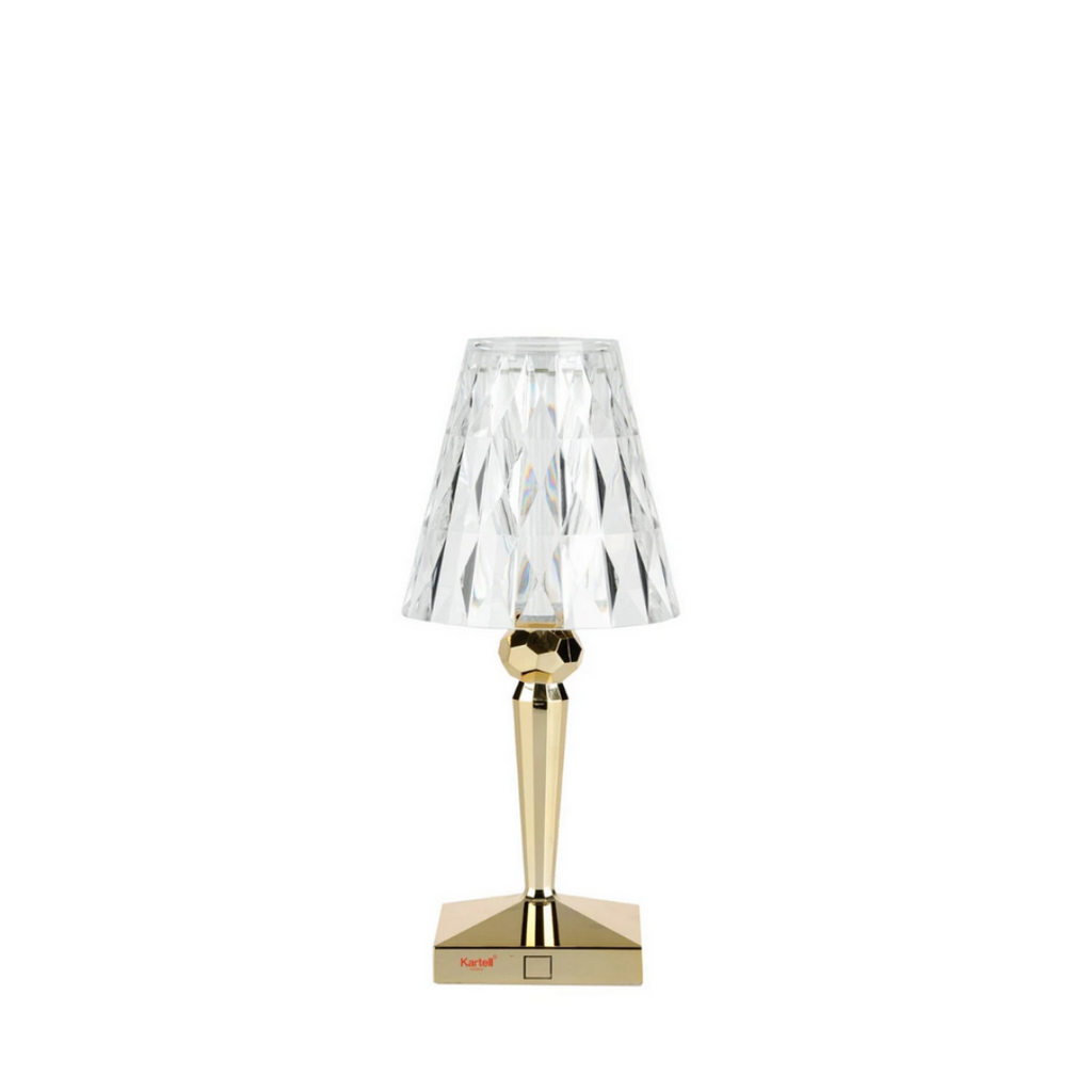 Battery Lamp, Gold Crystal