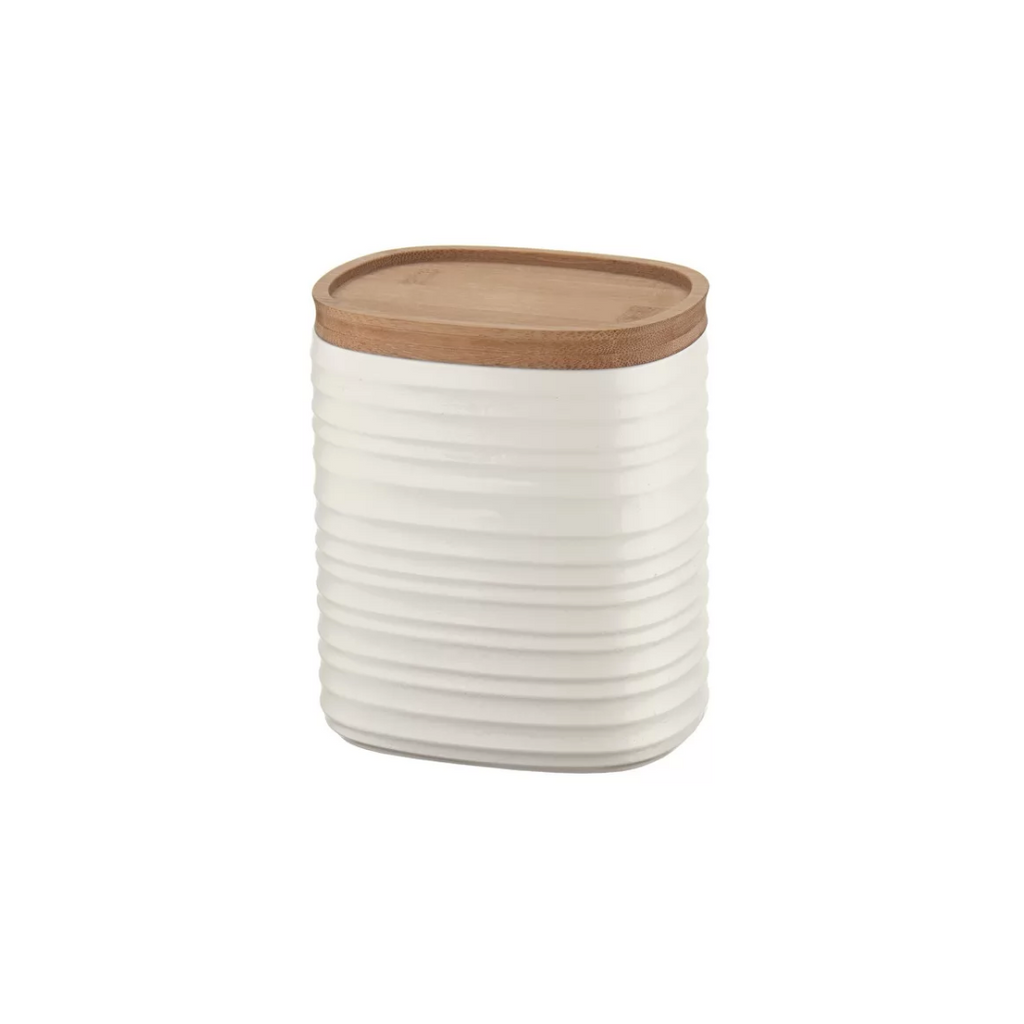 M STORAGE JAR 'TIERRA', Milk White