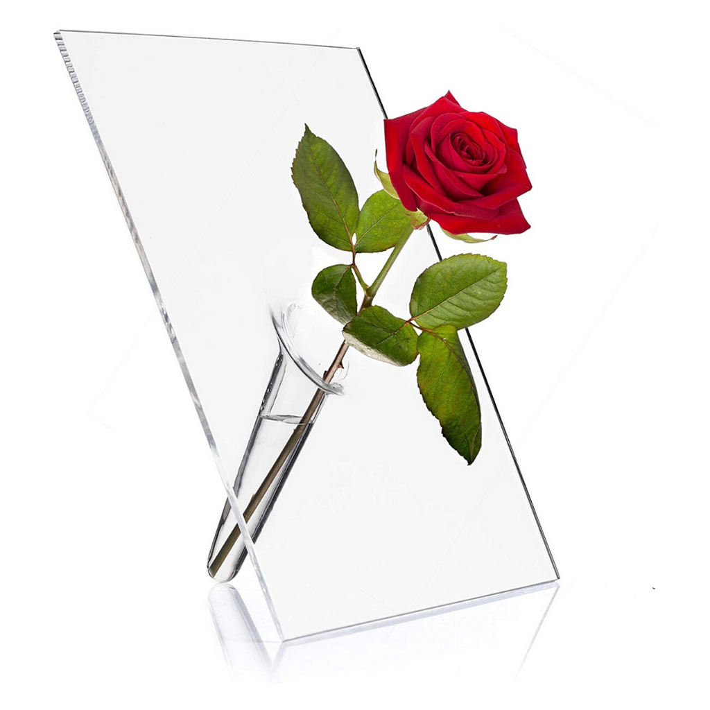 Single Stem Vase, Transparent
