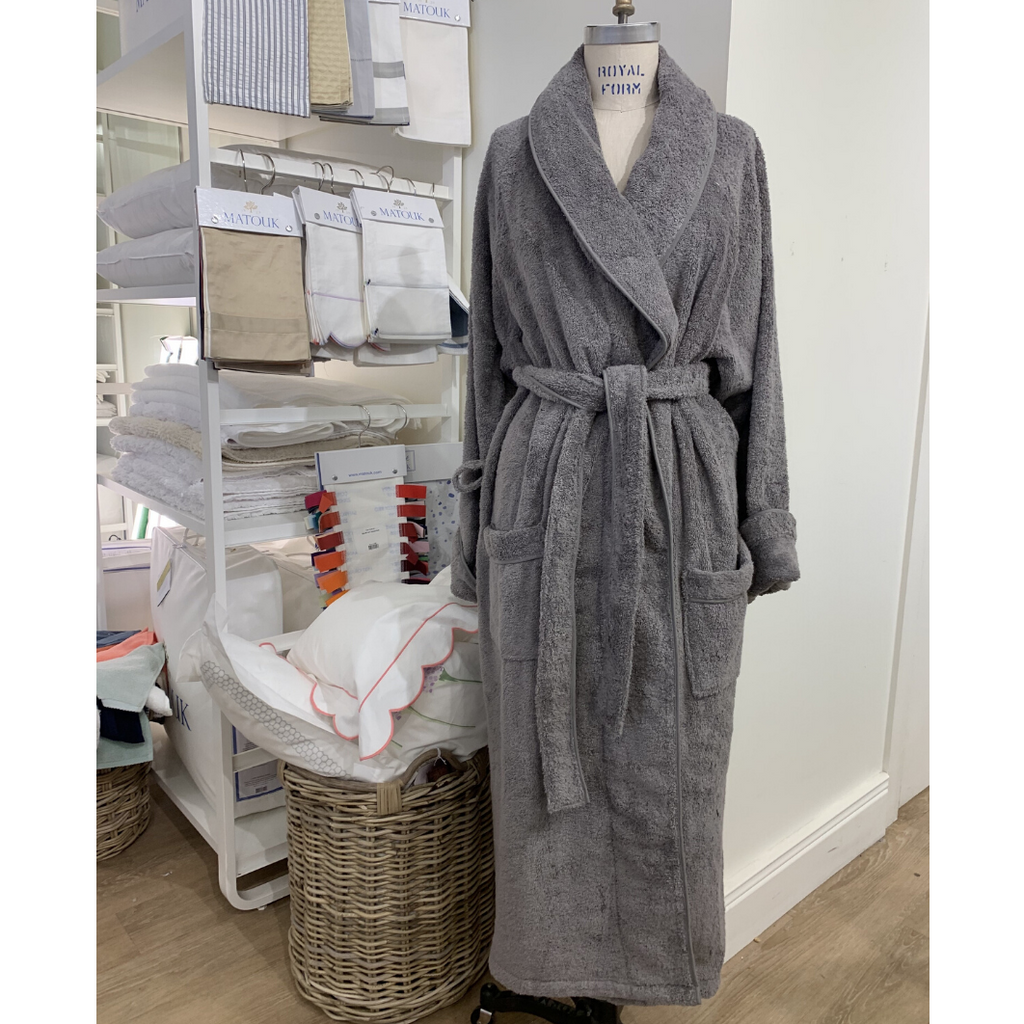 Cairo Bathrobe, Charcoal