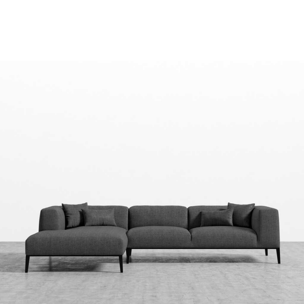 RS Private Collection Sectional Sofa, Performance Weave Cinder