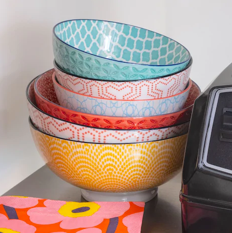"Kiri Porcelain Bowls - 6"" (22 Colors/Patterns)"