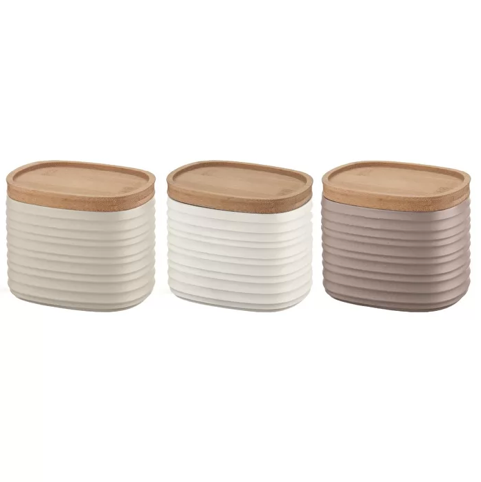 SET OF 3 SMALL STORAGE JARS 'TIERRA'