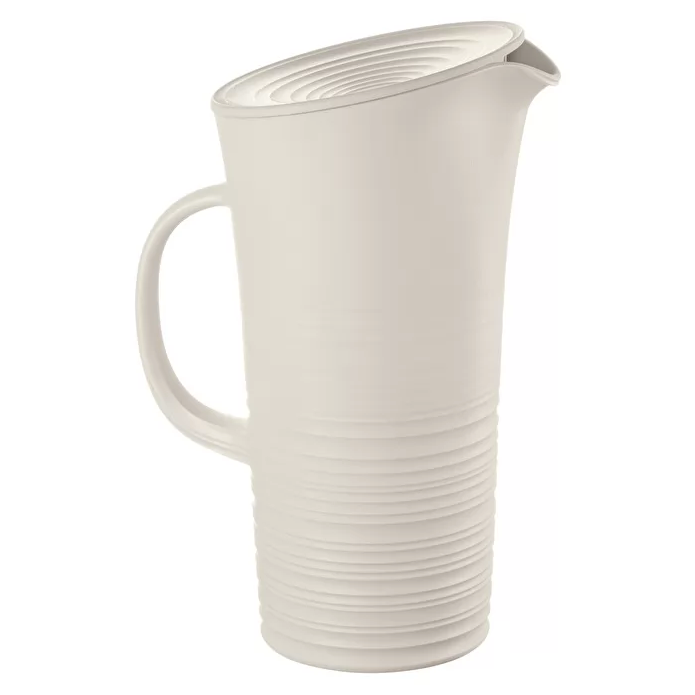 PITCHER WITH LID 'TIERRA', Milk White