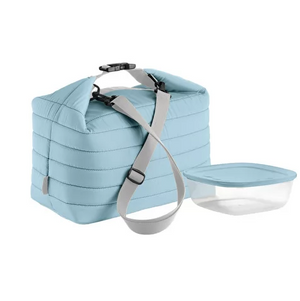 Large Thermal Bag w/ Airtight Container, Matte Blue