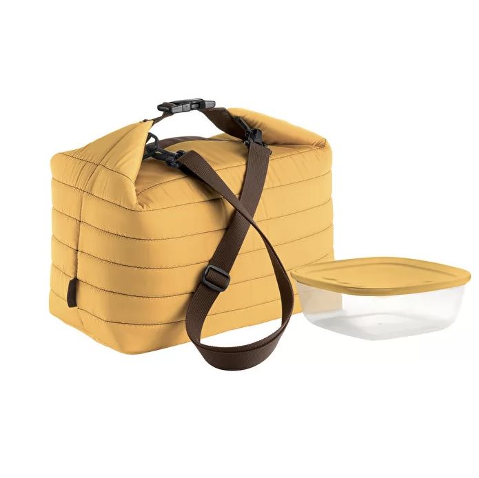 Large Thermal Bag w/ Airtight Container, Ochre
