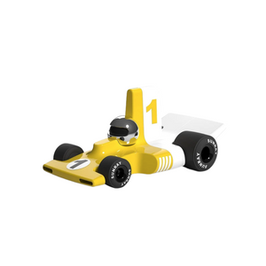 VELOCITA Racecar Yellow w/ Chrome Helmet
