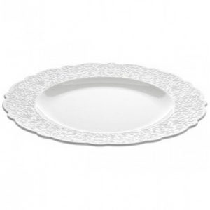 Dressed Dining Plate, white