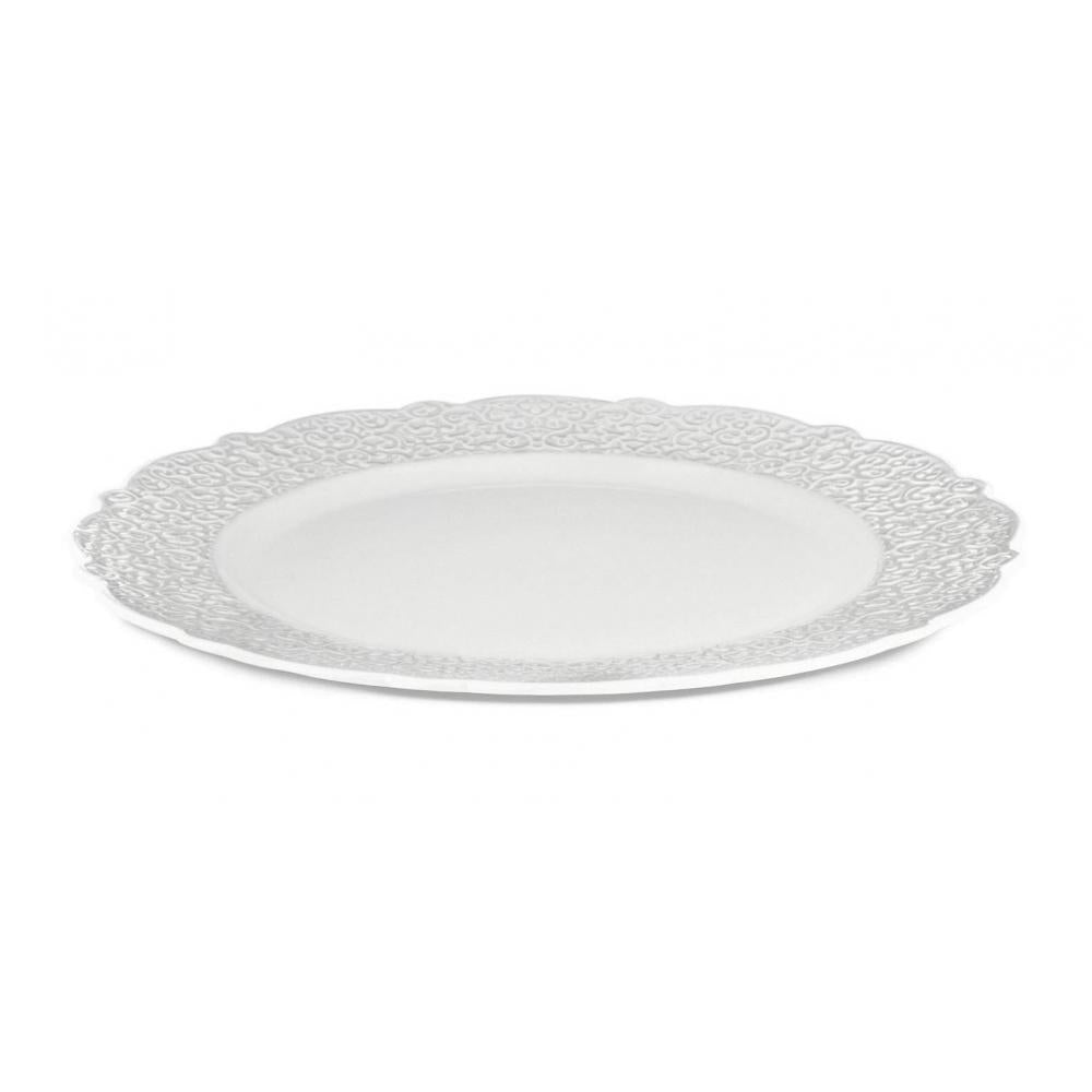 Dressed Serving Plate, white
