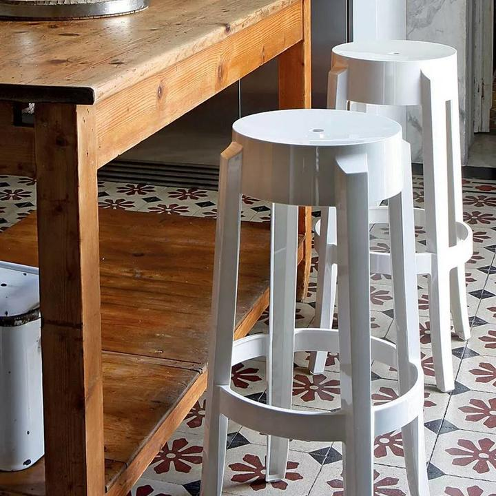Charles Counter Stool, White