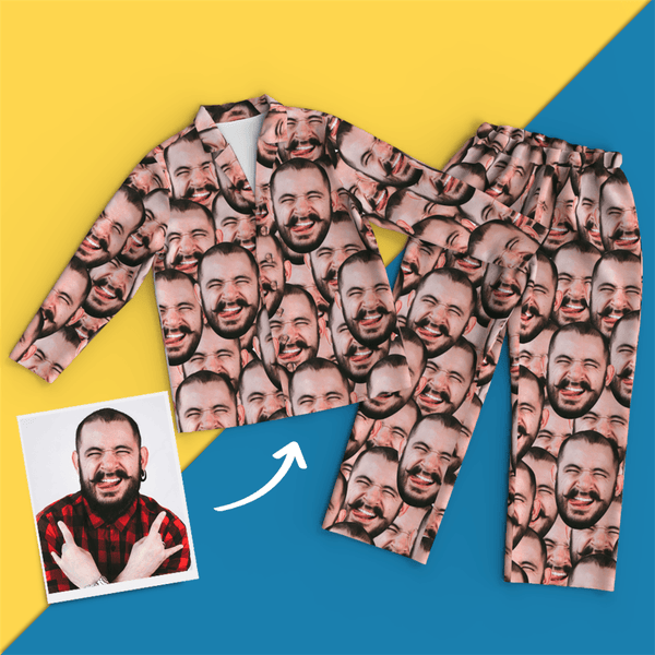 Custom Face Pajamas - Face Mash - MyFaceSocksJP