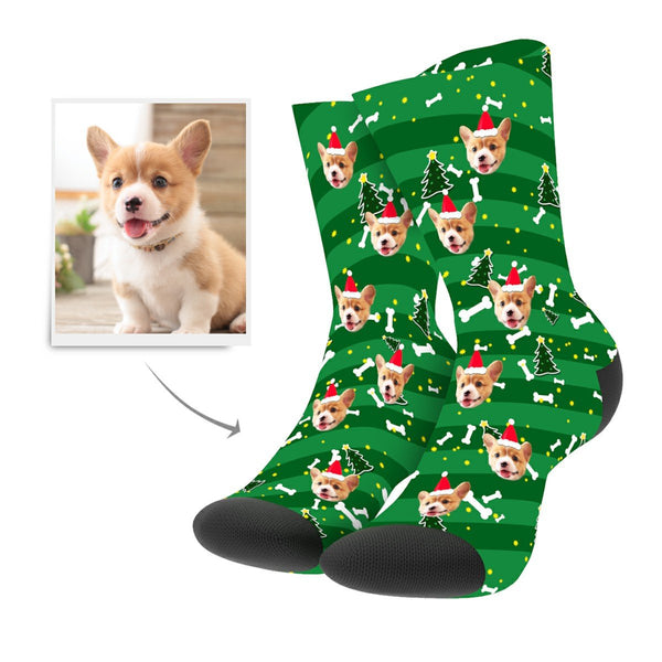 Christmas Custom Dog Socks - MyPhotoSocks
