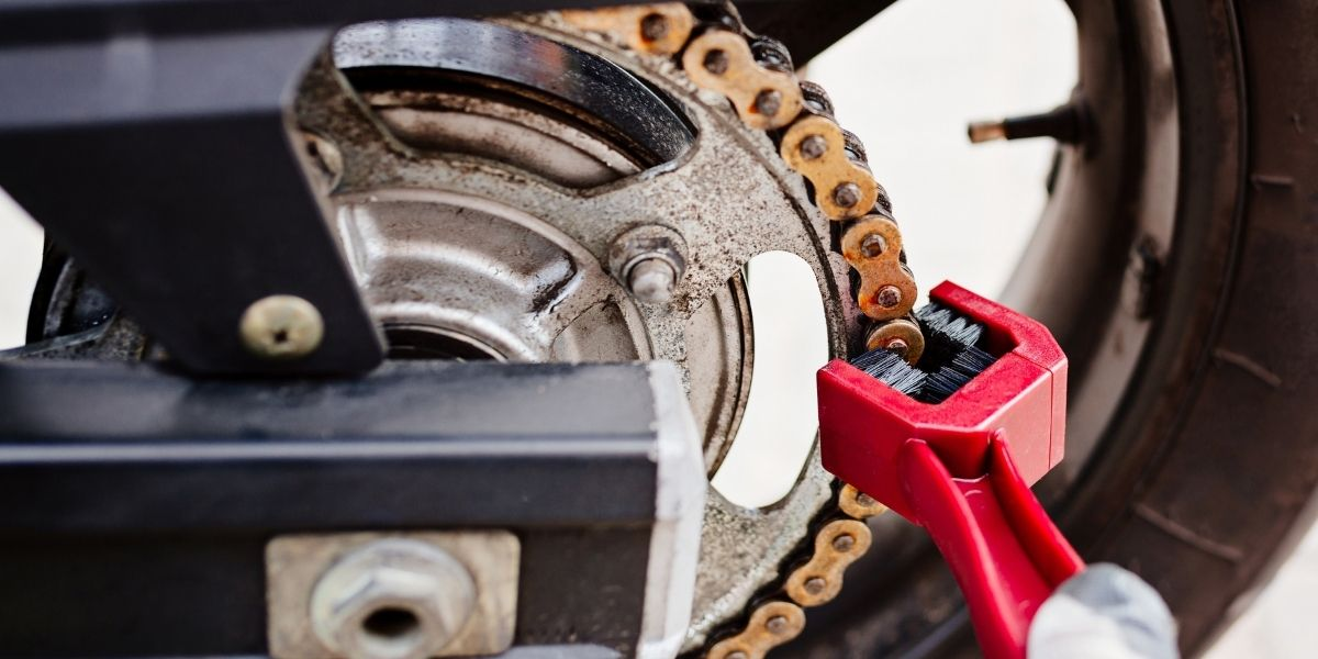 clean your motorcycle chain