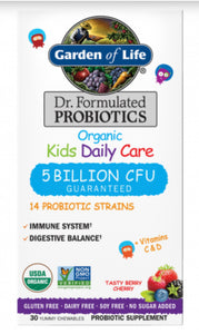 Garden of life organic kids Dr Formulated probiotics - Sernatural Orgánicos y Vitaminas