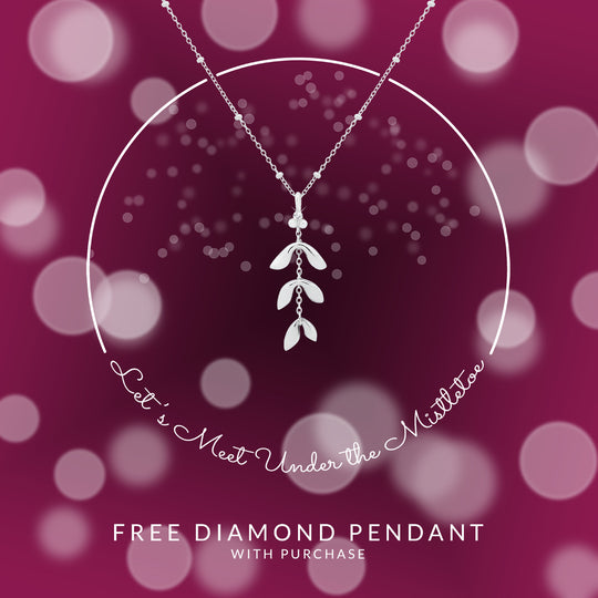 FREE Diamond Mistletoe Pendant For A Sparkling Christmas!