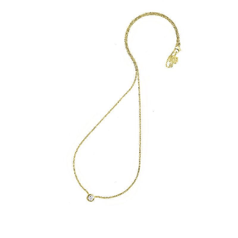 9ct Gold Diamond Dew Pendant - 0.25CT