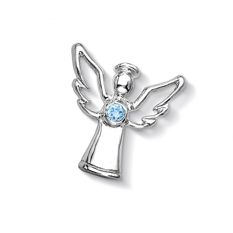 Blue Topaz Guardian Angel Locket Treasure
