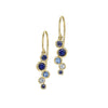 Sapphire & Aquamarine Large Cascade Drop Earrings - 1.20CT