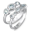 Diamond Cascade Trio Ring - 1.00CT