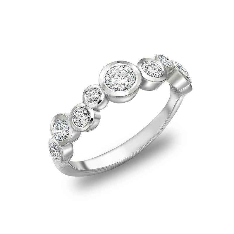 Diamond Cascade Ring - 0.75CT
