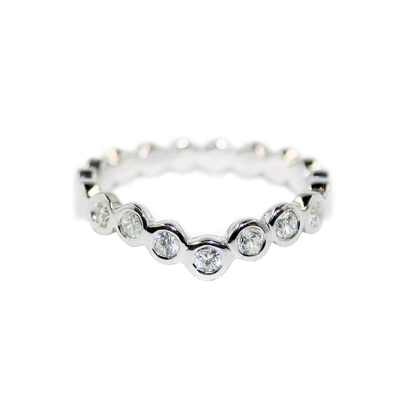 Diamond Dotty Wishbone Ring - 0.21CT