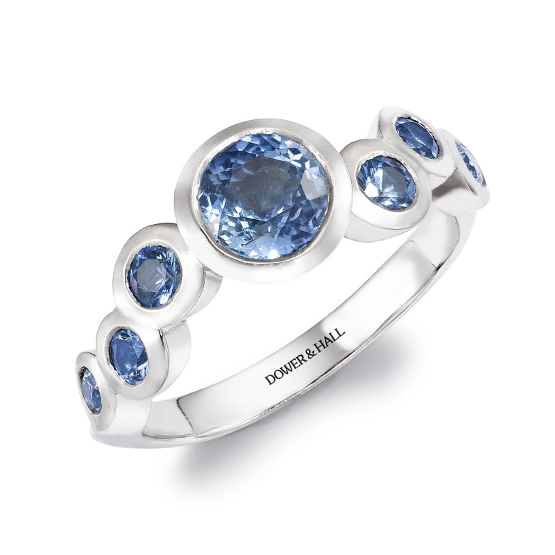Sapphire Dotty Wave Ring - 1.50CT