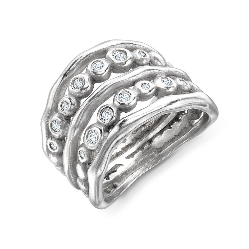 18ct Diamond Waterfall Ring