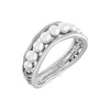 Dewdrop Pearl Single Row Band Ring