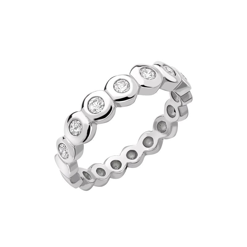 Diamond Dotty Half Eternity Ring - 0.25CT