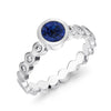 Sapphire & Diamond Dotty Engagement Ring - 0.75CT