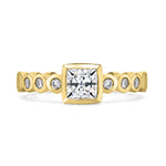 Diamond Cushion Dotty Engagement Ring - 0.75CT