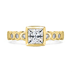 Diamond Cushion Dotty Engagement Ring - 1.00CT
