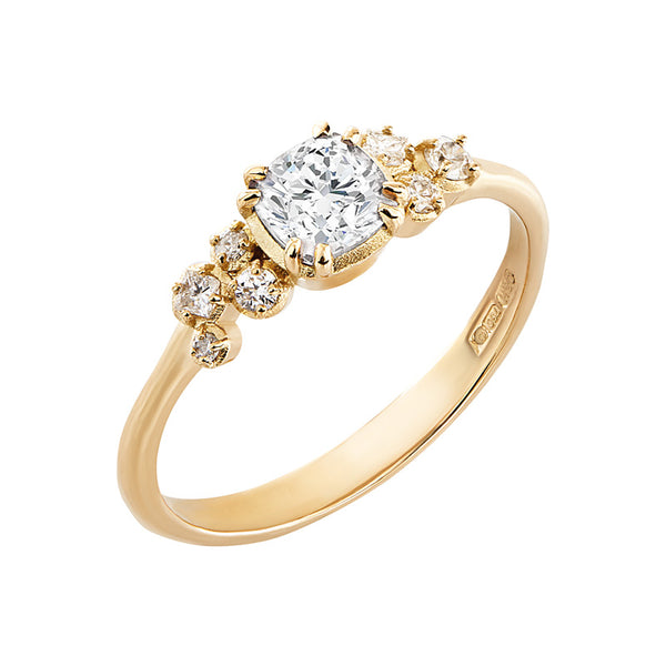 Cushion Diamond Stargazer Ring - 0.50CT