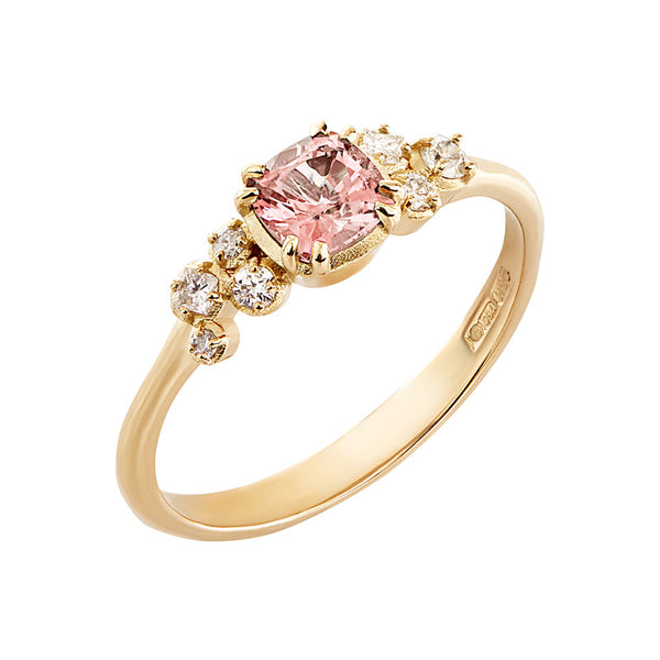 Cushion Morganite & Diamond Stargazer Ring - 0.50CT