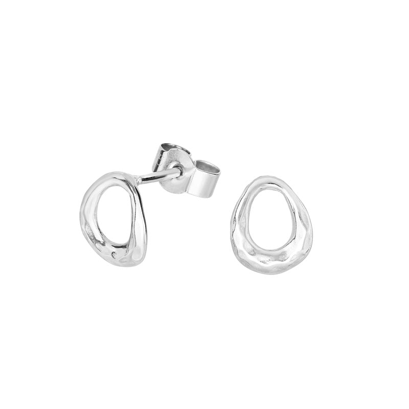 Small Entwined Oval Studs