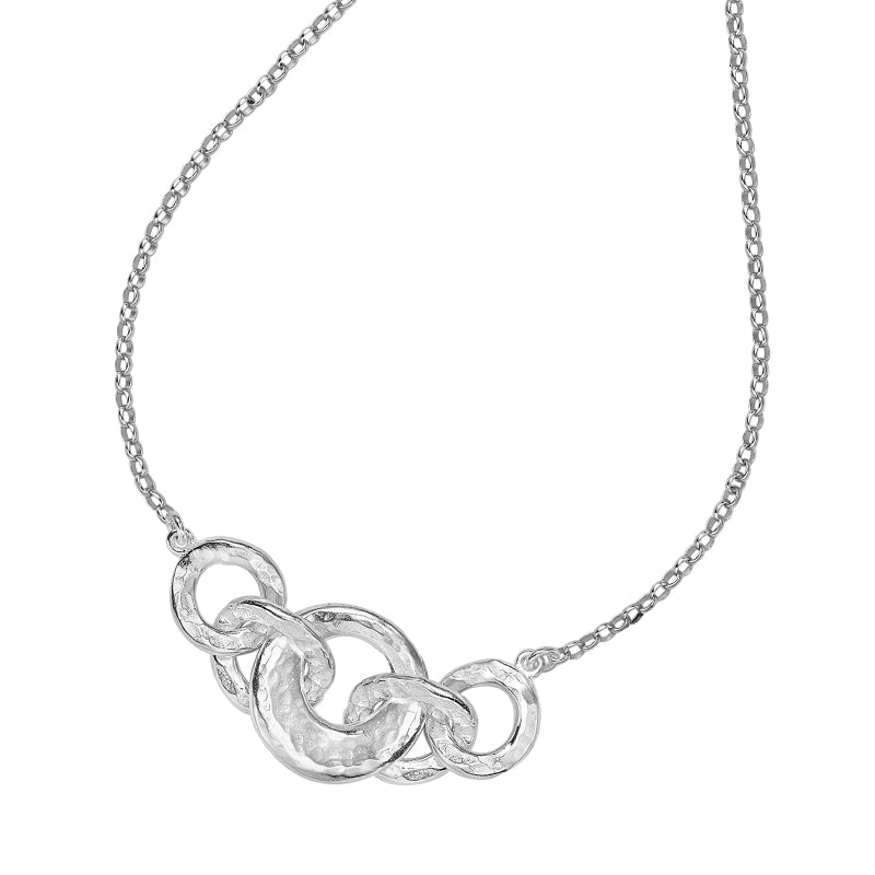 Entwined Quintuple Open Circle Pendant