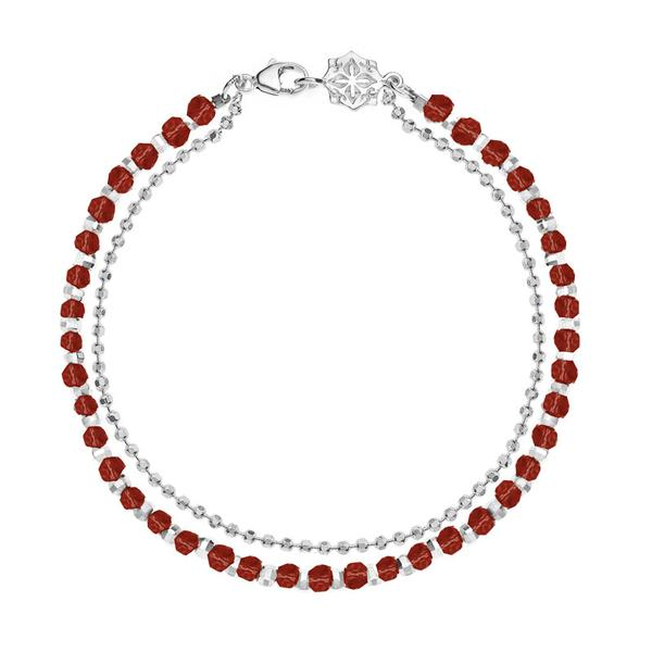 Garnet Faceted Bead Orissa Bracelet
