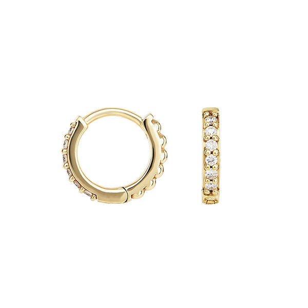 Small White Diamond Story Hoops