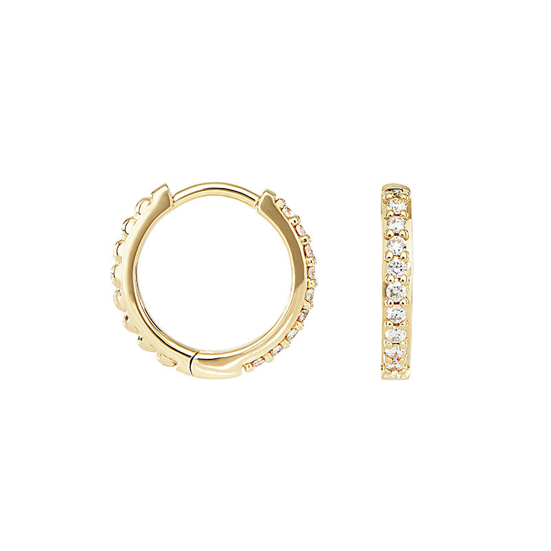 Medium White Diamond Story Hoops