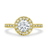 Halo Round Engagement Ring - 0.90CT